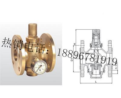 Y43X-16T 黄铜活塞式可调减压阀
