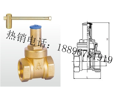 Z15W-16T 黄铜带锁闸阀
