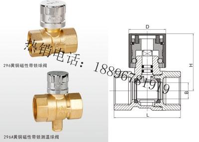 Q11F-16T 黄铜磁性带锁(测温)球阀