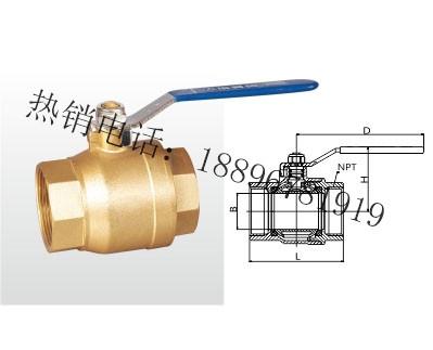Q11F-20T 黄铜球阀(美制)