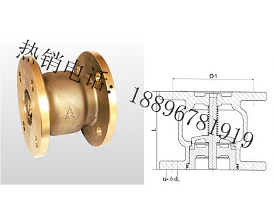 H42X-16T 黄铜法兰消声止回阀