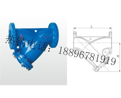 SY14C-H10/SY14C-H16 铁制法兰过滤器